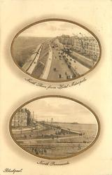 two oval insets  NORTH SHORE FROM HOTEL METROPOLE// NORTH PROMENADE