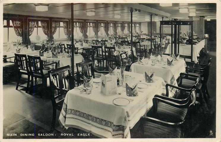 MAIN DINING SALOON: ROYAL EAGLE