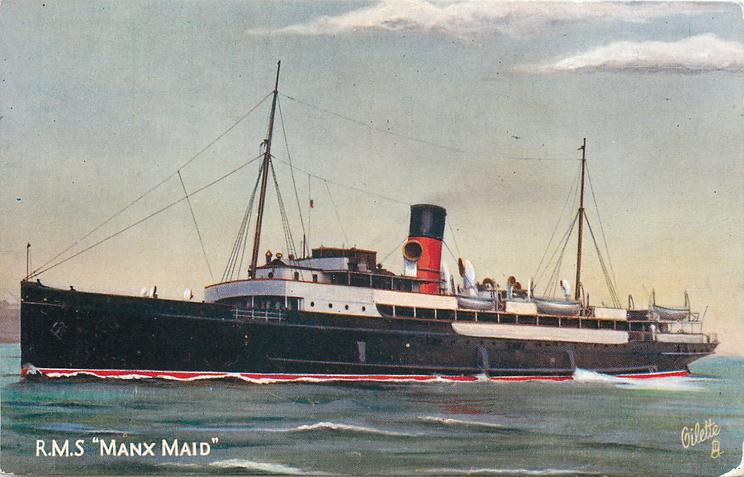 "R.M.S. ""MANX MAID""  steaming left"