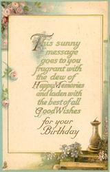 THIS SUNNY MESSAGE GOES TO YOU FRAGRANT/BIRTHDAY
