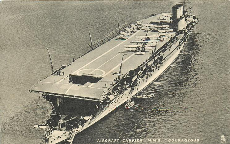 "AIRCRAFT CARRIER - H.M.S. ""COURAGEOUS"""