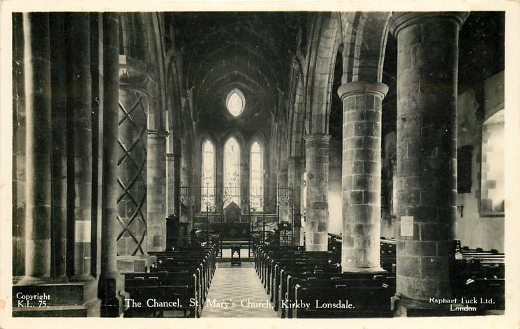 THE CHANCEL,  ST. MARY'S CHURCH