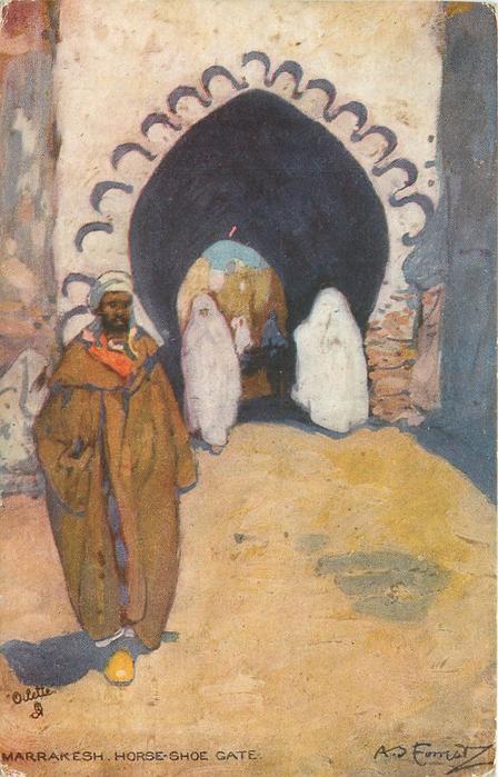 MARRAKESH. HORSE-SHOE GATE