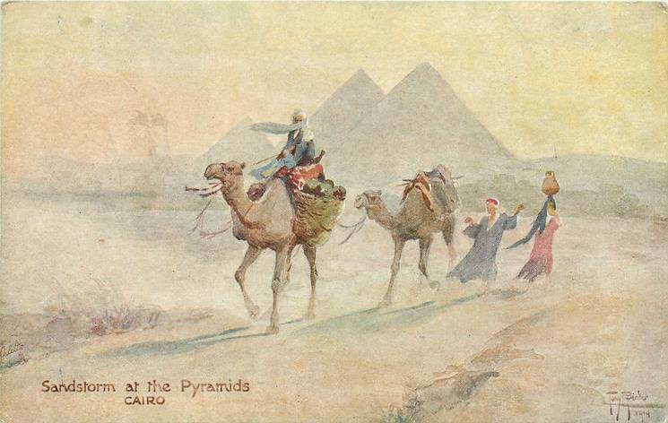 SANDSTORM AT THE PYRAMIDS, CAIRO