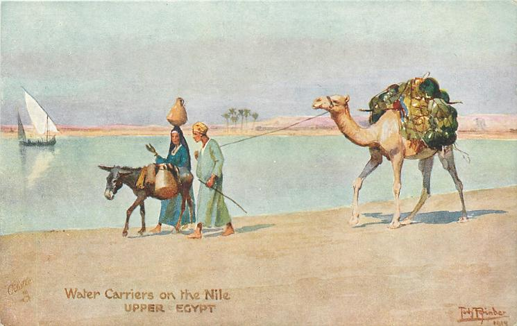 WATER CARRIERS ON THE NILE, UPPER EGYPT