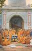 BUDDHIST PRIESTS AT THEIR SHRINE