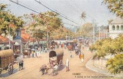 "A SCENE IN THE ""PETTAH"" OR NATIVE TOWN"