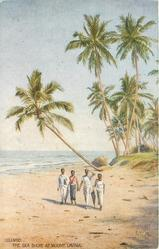 THE SEA SHORE AT MOUNT LAVINIA