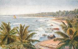 SEA SHORE FROM MOUNT LAVINIA, LOOKING TOWARDS COLOMBO