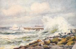 BREAKWATER, COLOMBO HARBOUR, DURING S.W. MONSOON