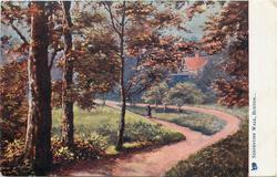 SERPENTINE WALK  trees left, path