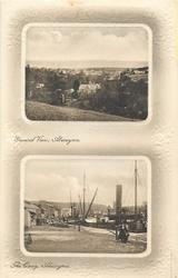 2 panels GENERAL VIEW, ABERAYRON and THE QUAY, ABERAYRON