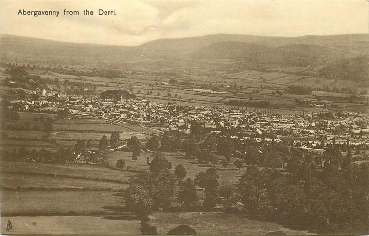ABERGAVENNY FROM THE DERRI
