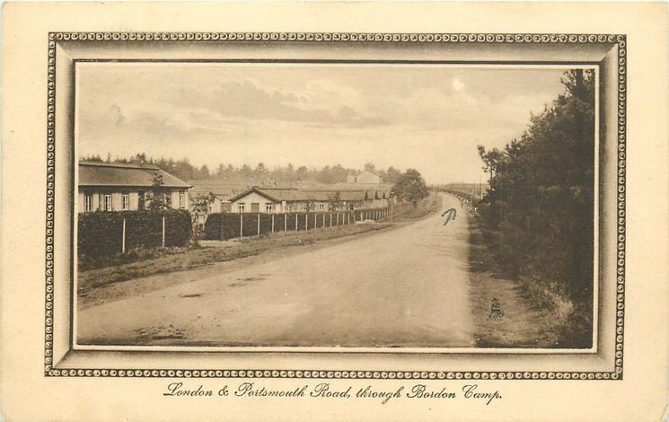 LONDON & PORTSMOUTH ROAD, THROUGH BORDON CAMP
