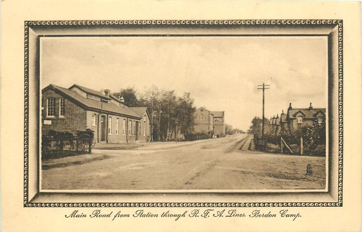MAIN ROAD FROM STATION THROUGH R.F.A. LINES, BORDON CAMP