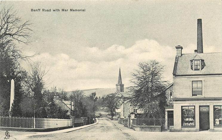 BANFF ROAD WITH WAR MEMORIAL