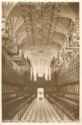 QUIRE FROM EAST, ST. GEORGE'S CHAPEL