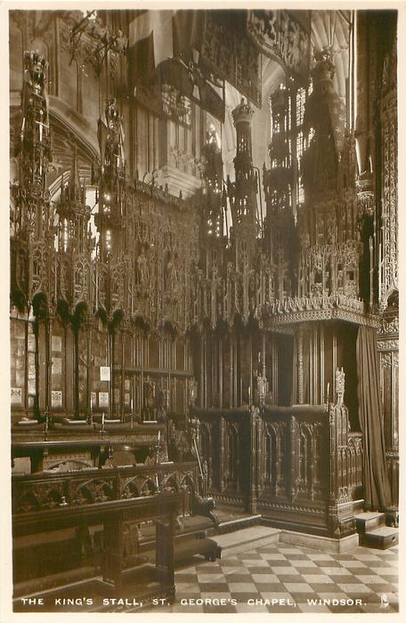 THE KING'S STALL, ST. GEORGE'S CHAPEL