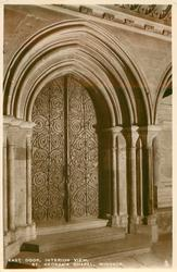 EAST DOOR, INTERIOR VIEW, ST. GEORGE'S CHAPEL