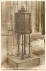 IRON ALMS-BOX, ST. GEORGE'S CHAPEL
