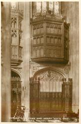 EDWARD IV'S TOMB AND HENRY VIII'S ORIEL, ST. GEORGE'S CHAPEL