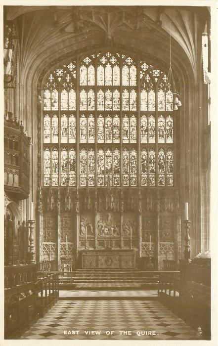 EAST VIEW OF THE QUIRE