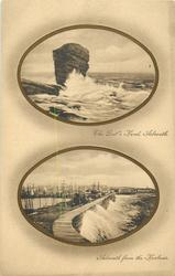 2 insets  THE DEIL'S HEAD, ARBROATH. and ARBROATH FROM THE HARBOUR