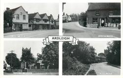 ARDLEIGH, 4 insets ANCIENT HOUSE and COLCHESTER ROAD and CHURCH AND MEMORIAL and DEDHAM ROAD