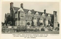 AVON TYRRELL, NEAR RINGWOOD, HAMPSHIRE, GIVEN TO THE NATIONAL ASSOCIATION OF GIRLS' CLUBS & MIXED CLUBS BY LORD MANNERS