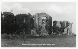 BROMHOLM PRIORY RUINS  very slightly different images for each publisher