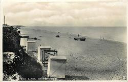 THE SANDS  bathing huts & bank left, sea right
