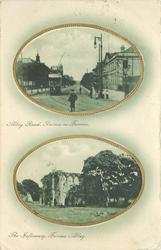 2 insets ABBEY ROAD, BARROW-IN-FURNESS and THE INFIRMARY, FURNESS ABBEY