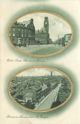 2 insets DUKE STREET BARROW-IN-FURNESS and BARROW-IN-FURNESS FROM ST. GEORGES