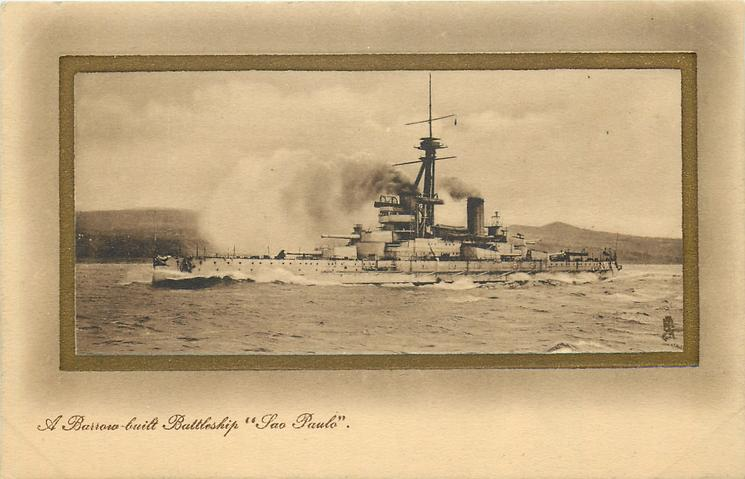 "A BARROW-BUILT BATTLESHIP ""SAO PAULO"""