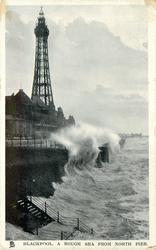 A ROUGH SEA FROM NORTH PIER