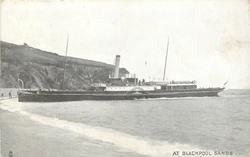 AT BLACKPOOL SANDS  paddle steamer