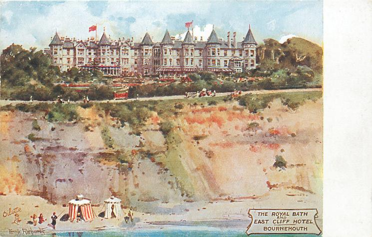THE ROYAL BATH AND EAST CLIFF HOTEL  hotel, cliff & beach