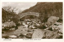 THE MEMORIAL BRIDGE, DUDDON VALLEY