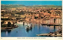 MSIDA CREEK ON SKYLINE MDINA AND MTARFA