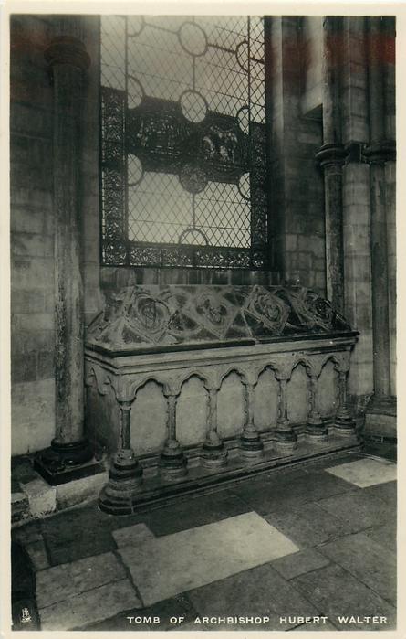 TOMB OF ARCHBISHOP HUBERT WALTER