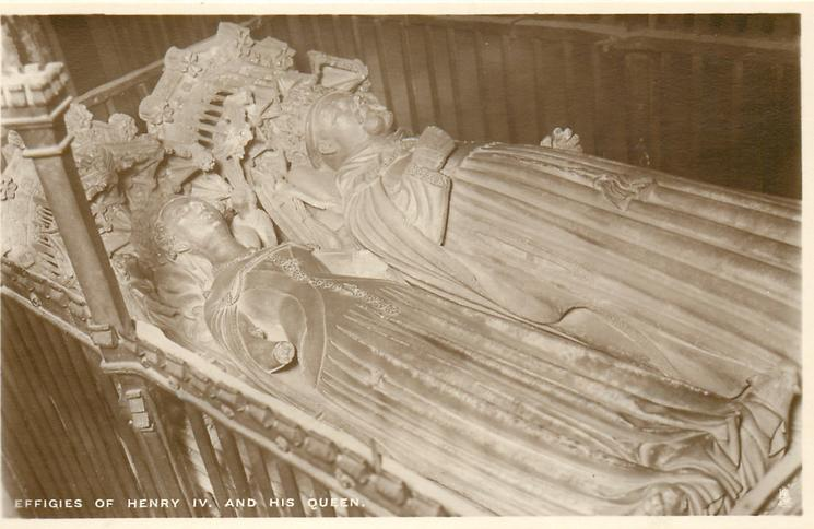 EFFIGIES OF HENRY IV. AND HIS QUEEN