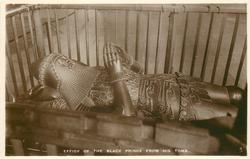 EFFIGY OF THE BLACK PRINCE FROM HIS TOMB