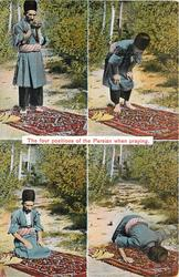 THE FOUR POSITIONS OF THE PERSIAN WHEN PRAYING