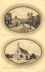2 insets HIGH STREET and CHURCH OF THE GOOD SHEPHERD, FURNHAM