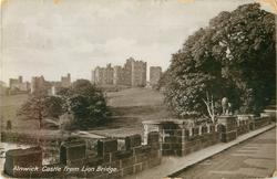 ALNWICK CASTLE FROM LION BRIDGE