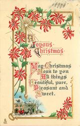 A JOYOUS CHRISTMAS  MAY CHRISTMAS MEAN TO YOU ALL THINGS BEAUTIFUL, PURE, PLEASANT AND SWEET