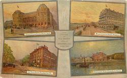 4 insets GRAND PUMP ROOM HOTEL BATH/ROYAL CRESCENT HOTEL BRIGHTON/DE VERE HOTEL, KENSINGTON W./ESPLANADE HOTEL, PENARTH, S. WALES