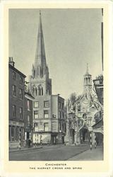 THE MARKET CROSS AND SPIRE