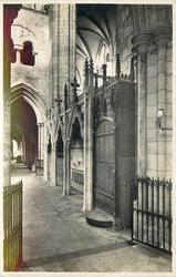 BISHOP STRATFORD'S TOMB  arched door right