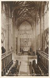 THE REREDOS AND CHOIR, CHRISTCHURCH PRIORY